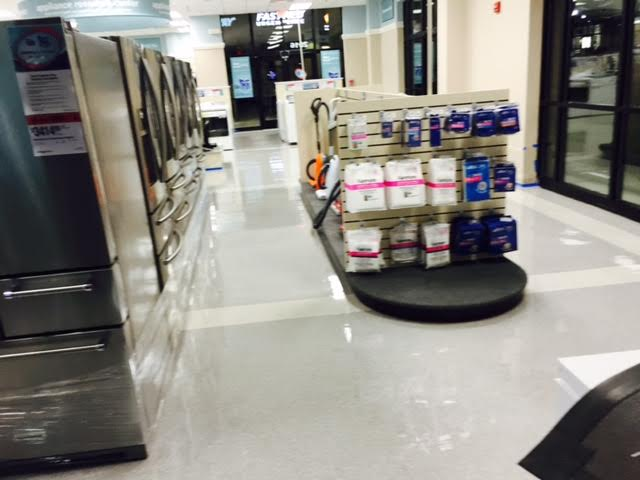 Floor Cleaning at Sears store in Apex, NC